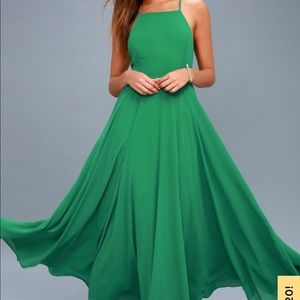 Lulus 'Mythical Kind of Love' Green Maxi Dress XS